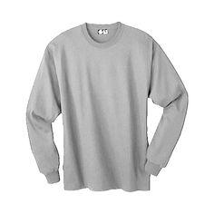 Hanes Comfortsoft Heavyweight Long Sleeve T-Shirt Pac - Light Steel Men's Xl (Mns Chest Grey Shirt Dress, T Shirt, Gray Dress, Navy Man, Mens Xl, School Outfits, Black Men, Long Sleeve Shirts, Men's Shirts