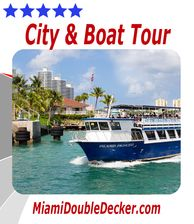 Miami City and Boat Tour is a great way to take in all the local sights in Miami by Land and by Sea.