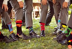 Superhero socks! These @Four Seasons Hotel Austin groomsmen showed you're never too old to have fun with your feet.