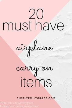 Be prepared for any length of flight to anywhere! Every must have carry on item you need to pack for your next vacation.