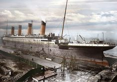 RMS Titanic in it's final stage of construction. Belfast, UK. Launched: 31st May 1911..Photographer unknown..