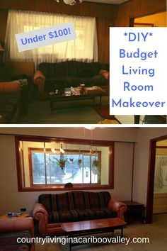 Here's how to update old wood panel walls. Save money by painting wood paneling with grooves. You can paint wood paneling without sanding. Painting Wood Paneling, Painting Trim, House Painting, Paneling Makeover, Living Room On A Budget, Wood Panel Walls, Cabin Design, Old Wood, Diy Home Decor