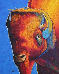 Attitude Is Everything by joe triano Acrylic ~ 40 x 32 kK Canvas Art, Canvas Prints, Framed Prints, Buffalo Painting, Attitude Is Everything, Southwest Art, Cool Pets, Native American Art, Painted Rocks