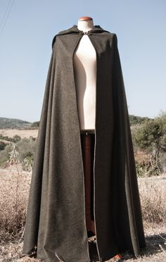 Green Hobbit Style Cloak - ready to ship in a few days. $190.00, via Etsy.