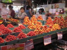 Granville market Granville Market, Marketing, Vegetables, Food, Essen, Vegetable Recipes, Meals, Yemek, Veggies