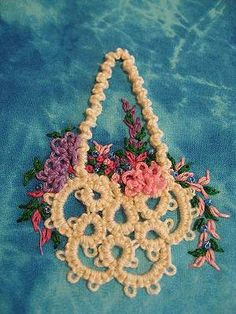 What is a tatting needle... because I want to make that! by Laurie Walton A year ago I had no clue what Needle Tatting was. But I had signed up for the Postmark'd Art Basket Swap and I needed inspi...