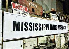 Mississippi Hardware Sign from Vicksburg MS