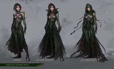 Character Design: Cawen the Caletmore Witch by theDURRRRIAN.deviantart.com on @deviantART