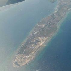 上空からみたセブ空港があるマクタン島