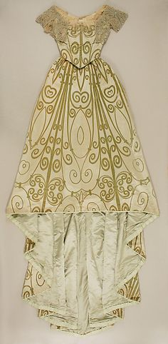 Ensemble (image 1) | House of Worth | French | 1898-1900 |  silk, simulated pearls, rhinestones | Metropolitan Museum of Art | Accession Number: C.I.57.17.8a–d