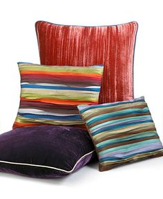 Tracy Porter Luxe Decorative Pillows Note: nice way to add texture & intense COLOR