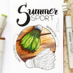 4/8 theme of my drawing challenge- summer sports  После насыщенных выходных скетчи получаются скромными :) Но это не повод не объявлять новую тему. 4/8 - летние виды спорта!  Рисуем до пятницы и не забываем хэштег #lk_sketchflashmob