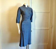 Little Miss Military Vintage 40's Dress
