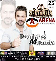 Balada com show ao vivo do cantor Paulinho Miranda agitando a galera com os melhores sucesso sertanejo! Não perca!!!
