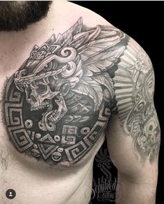 Aztek Tattoos Aztec Designs And Symbols For Tattoos Aztec Tattoos Sleeve, Aztec Tribal Tattoos, Aztec Tattoo Designs, Aztec Art, Aztec Designs, Mayan Tattoos, Mexican Art Tattoos, Chicano Tattoos, Body Art Tattoos