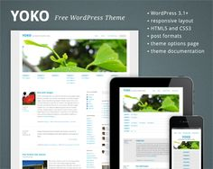 Free HTML5/CSS3 WordPress 3.1+ Theme With Responsive Layout: Yoko