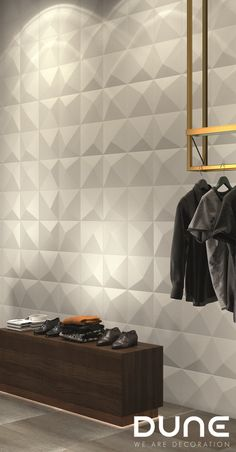 KIOTO WHITE - - Tile with relief, in the form of an off-centre pyramid. In matt-white, allowing for plenty of variation in the way it is used to achieve a play of volumes that accentuate the light. Diy Wall, Wall Decor, Ceramics Tile, White Wall Tiles, Stone Texture, Tile Design, Modern House Design, Dune, Style Fashion