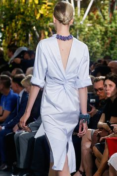 SS14 Dior shirtdress worn by TIlda Swinton in A Bigger Splash back detail