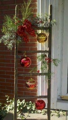 Outdoor Christmas Decor Ideas Front Porch by snowbug65