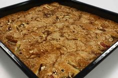Rabarberkage med nødder og kanel en opskrift fra Alletider kogebog