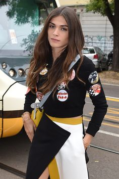 Elisa Sednaoui || Fendi Show, Milan Fashion Week Womenswear S/S 2015 (September 18, 2014)