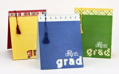 A cute take on a graduation tassel - follow this video tutorial to make this handmade graduation card.