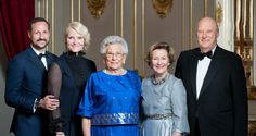 blogg.tv2.no:  The Norwegian Royal Family held an 85th birthday party for Princess Astrid, February 12, 2017-l-r Crown Prince Haakon, Crown Princess Mette-Marit, Princess Astrid, Queen Sonja, King Harald