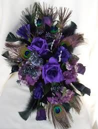 Purple & lavander wedding bouquet