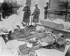 WWI, 18 Feb 1917; Early Victims of the Russian Revolution, Petrograd.