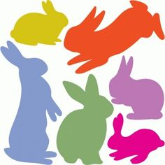 Silhouette Design Store - View Design #77073: 6 bunnies