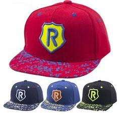 ba883c1bd0a 2019 Adjustable Kid Baseball Cap Unisex Snapback Hip Hop Hat Fashion R  Letter Running Man Style Children S Ball Caps From Jessiebee