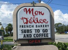 Mon Delice French Bakery, New Smyrna Beach, FL - awesome - like nothing I've ever had before. The Bestest! New Smyrna Beach Florida, Florida Beaches, Us Vacation Spots, French Bakery, Best Places To Eat, Central Florida, Baking Ideas, Awesome, Amazing