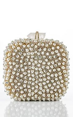 Marchesa pearl and crystal evening bag clutch
