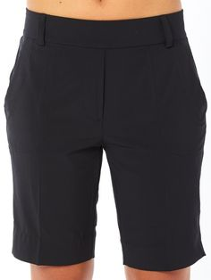 "If you're in the market for some new outfits, consider our women's apparel! Shop this comfortable and stylish ESSENTIALS Onyx Belyn Key Ladies Trouser 9"" Inseam Golf Shorts from Lori's Golf Shoppe."