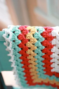 Color Combo!  Granny Square Baby Blanket in Robins Egg by DaisyCottageDesigns, $65.00