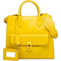 Balenciaga Padlock All Afternoon Yellow ($1,885) ❤ liked on Polyvore featuring bags, handbags, shoulder bags, yellow, purses, bolsas, balenciaga, real leather purses, yellow leather shoulder bag and yellow leather purse