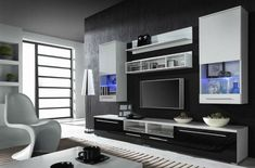 LUNA WHITE BLACK TV SET This is TV set designed for LCD LED TV from 32 up to 55 Made of high quality laminated boards with