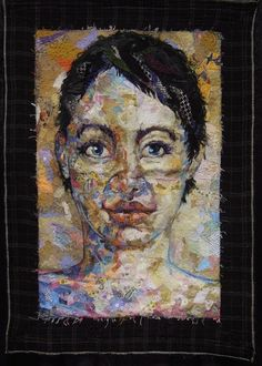 Shattered Face Quilt by Kathryn Harmer Fox, East London, South Africa.  2013 PIQF, photo by Quilt Inspiration
