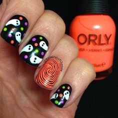 Halloween is right around the corner so you need to make sure you have your nails done to perfection to celebrate a fun holiday. We have found some of the best Halloween nail art designs for 2018 and would love to share them with you. Fabulous Nails, Gorgeous Nails, Pretty Nails, Halloween Nail Designs, Halloween Nail Art, Halloween Halloween, Halloween Decorations, Get Nails, How To Do Nails