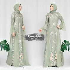 Batik Fashion, Abaya Fashion, Fashion Dresses, Women's Fashion, Hijab Gown, Hijab Dress Party, Muslimah Wedding Dress, Moslem Fashion, Model Kebaya
