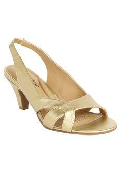 """Taylor"" metallic slingback evening sandal #Comfortview #PlusSize"