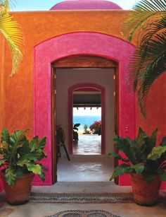 Bright colours of the Mexican Rivera
