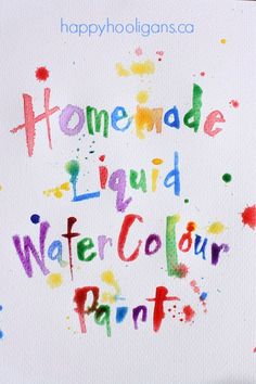 Vibrant homemade liquid watercolour paint from dried out markers. vibrant homemade liquid watercolor paint for kids from happy hooligans Preschool Art, Craft Activities For Kids, Projects For Kids, Diy For Kids, Science Activities, Home Made Paint For Kids, Art Projects, Craft Ideas, Happy Hooligans