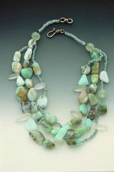 large healing crystal pendant dagger shaped natural gemstone Chunky Amazonite Shard Necklace bohemian blue semiprecious stone