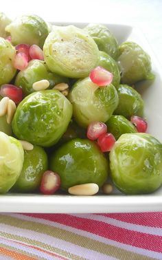 Red, White, and Green Pressure Cooker Brussels Sprouts! • hip pressure cooking