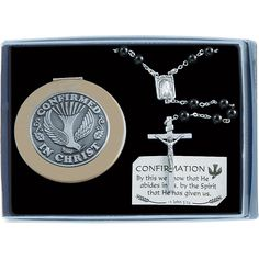 This Confirmation Rosary set is the perfect gift for the young man confirming his faith.