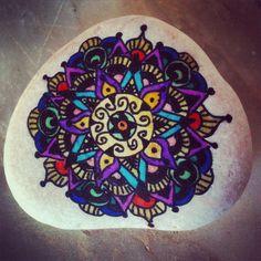 #art #color #paint #paintstones #mandala