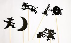Hey Diddle Diddle Shadow Puppets   Puppets   Nursery Rhymes   Kids Activities