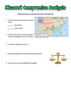 Missouri Compromise Of Timeline In This Activity Students - Missouri compromise interactive map