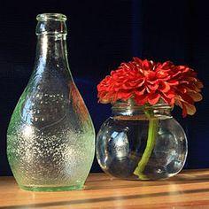 Orangina Bottle Vase